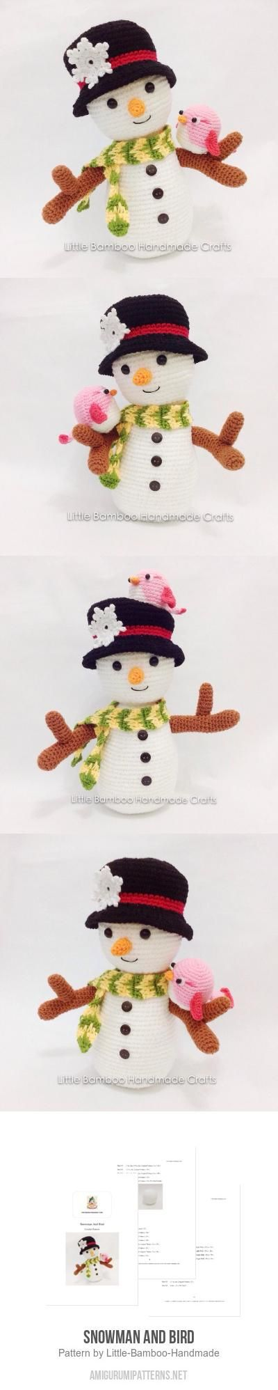 Snowman And Bird amigurumi pattern by Little Bamboo Handmade ...
