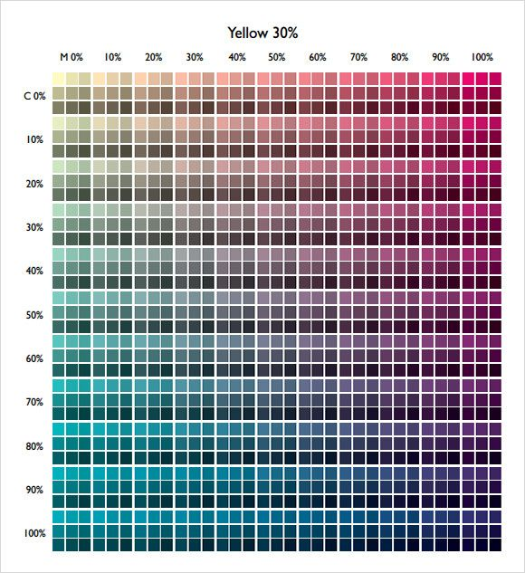 Cmyk Color Chart Pdf Free Download  Color Combinations