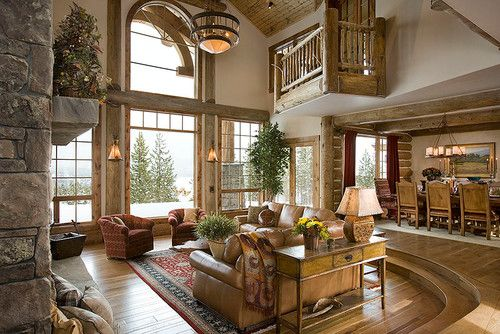 Family Room Log Home Design, Pictures, Remodel, Decor And Ideas   Page 3.  Find This Pin And More On Step Down Living ... Part 55