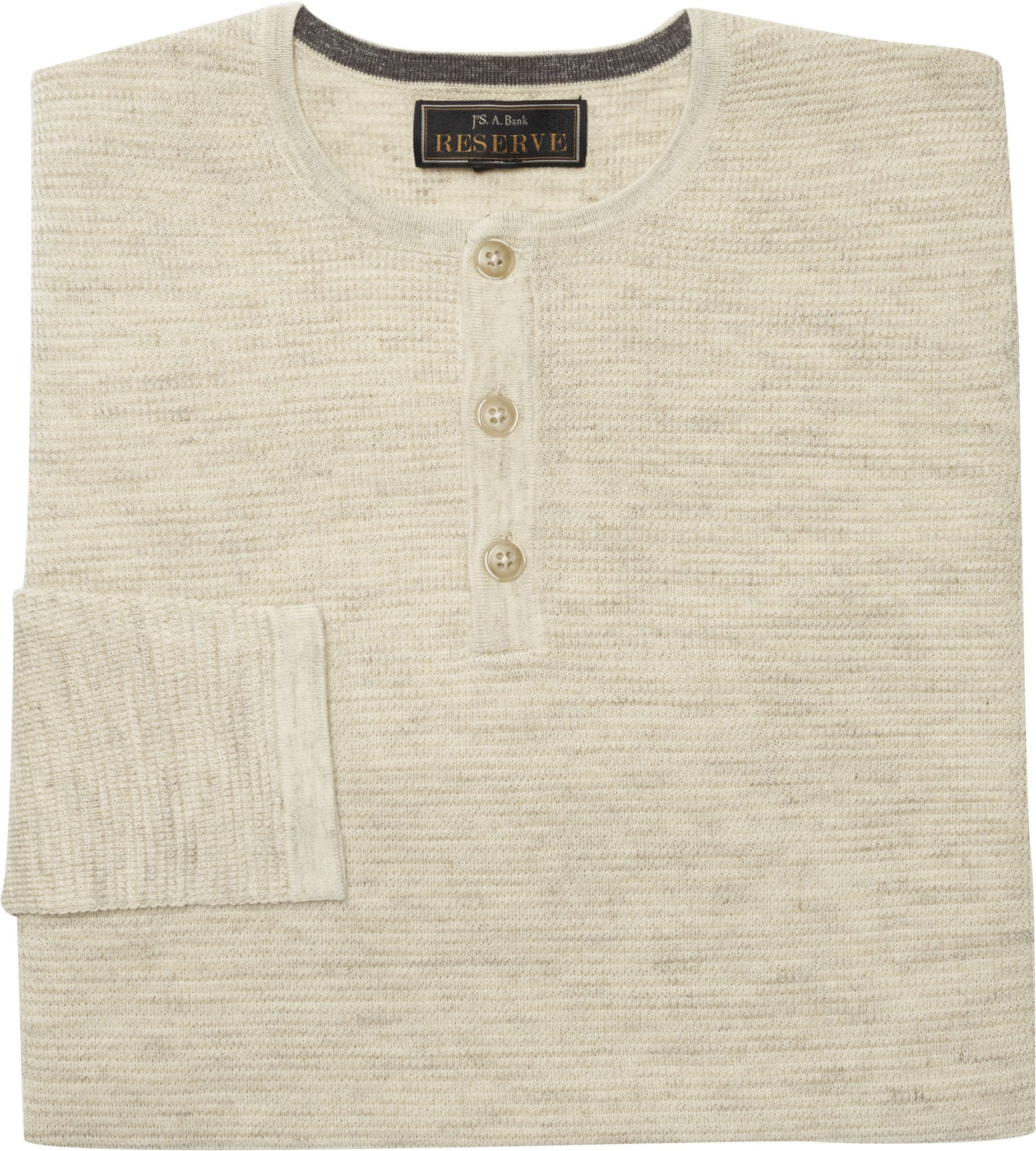 Reserve Collection Waffle Knit Henley Big and Tall CLEARANCE