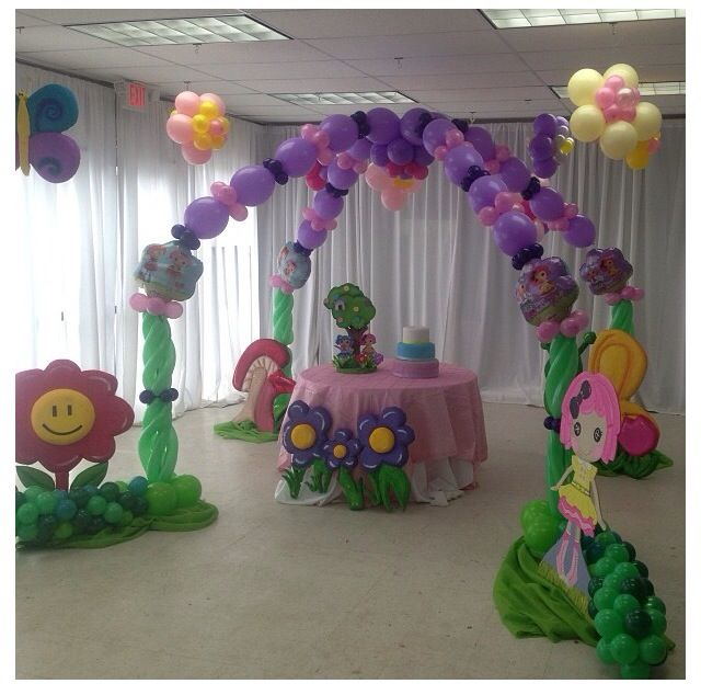 Lalaloopsy balloon decor lalaloopsy balloon decor arch for Arch balloon decoration
