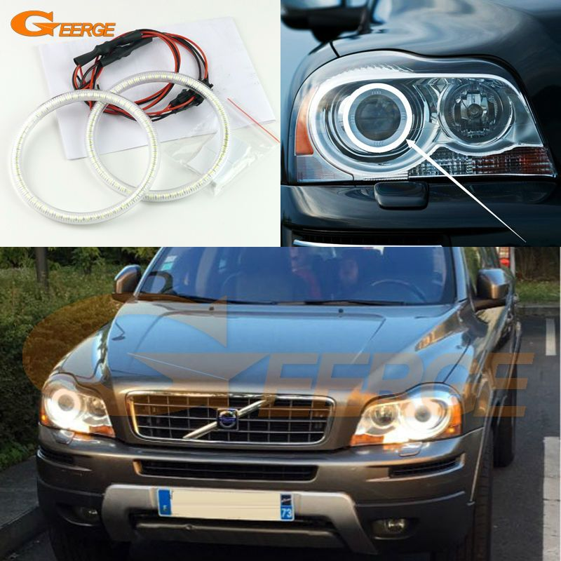 For Volvo Xc90 2010 2011 2012 2013 With Xenon Headlight Excellent Angel Eyes Ultra Bright Illumination Smd Led Angel Eye Car Lights Volvo Xc90 Xenon Headlights