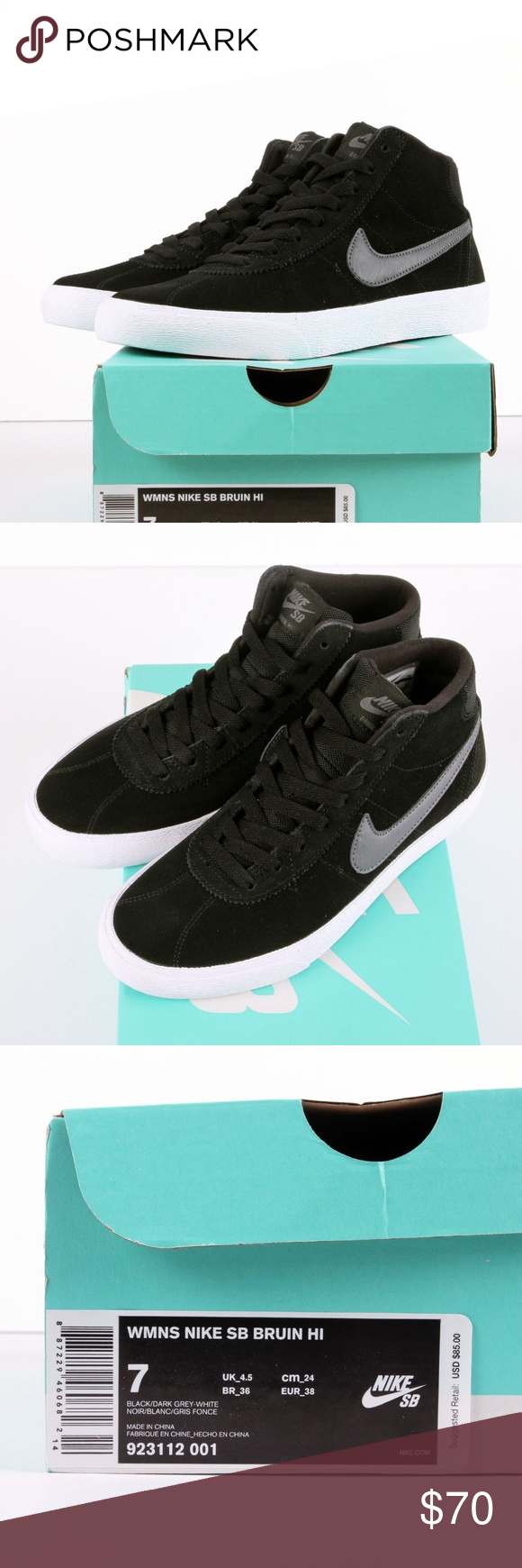 Women s Nike SB Bruin High Women s Nike SB Bruin High Black White Dark Grey  Style   923112-001 Size US Size 7 Feel free to ask questions or offers. e6d1d3cce