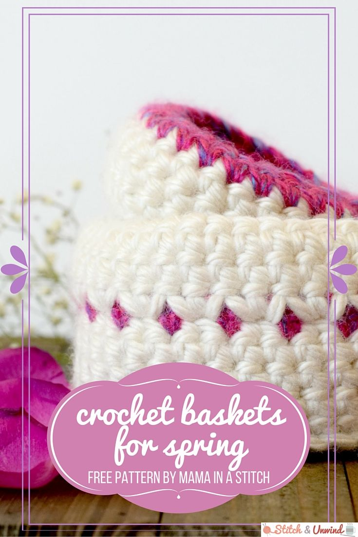 Crochet Baskets for Spring | Crochet Decor | Pinterest | Cesto ...