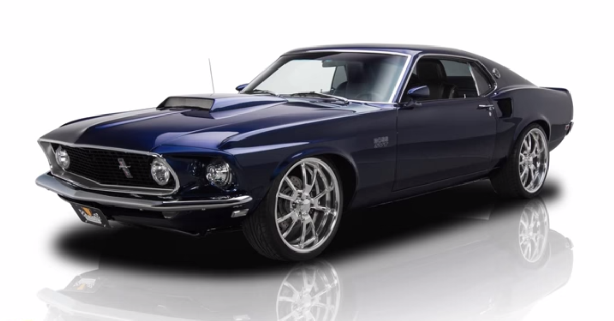 Check Out This Bad Supercharged 1969 Ford Mustang Muscle Cars Mustang Custom Muscle Cars Ford Mustang