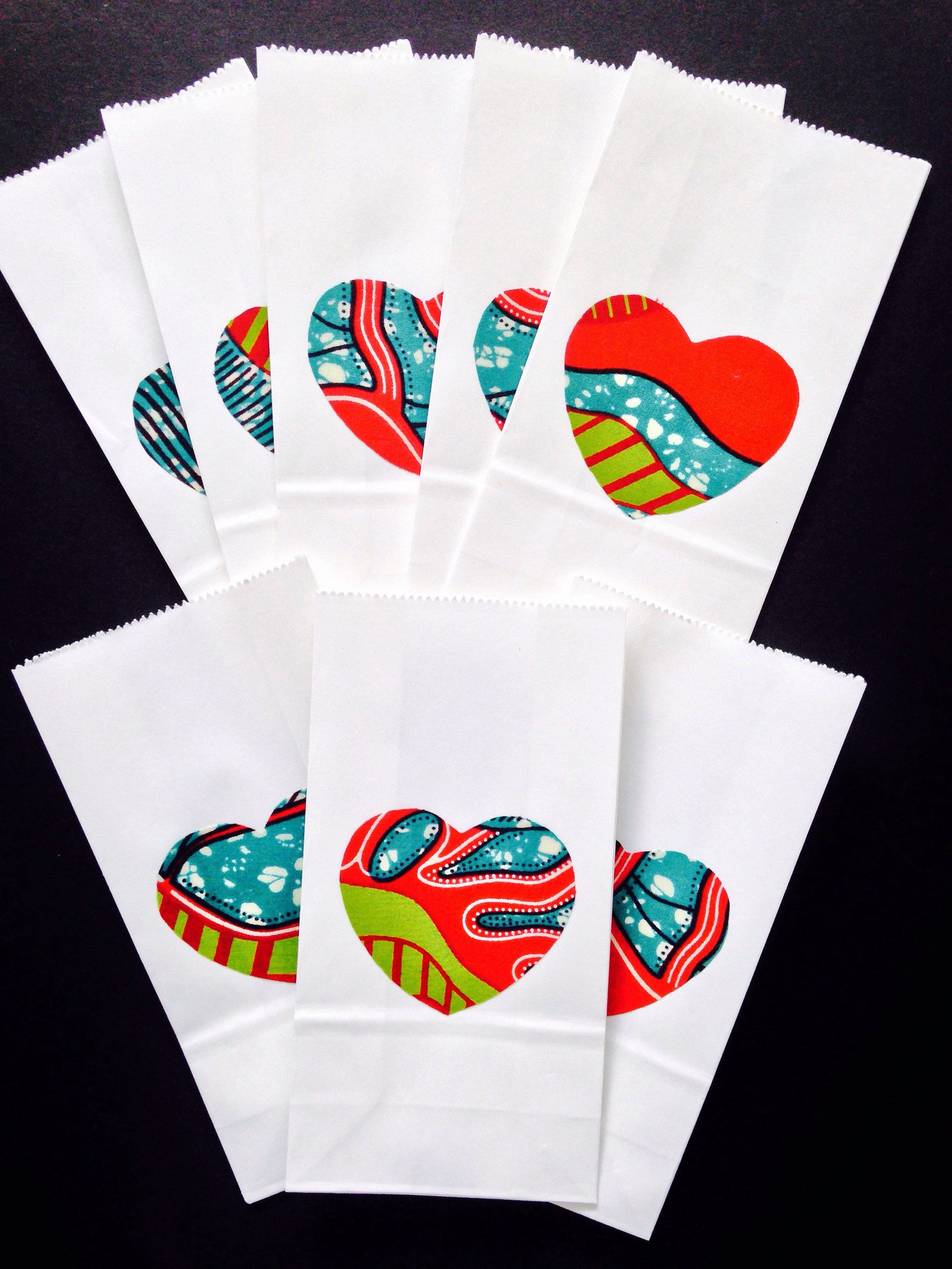 Take Heart - Wedding favor bag, Party bags, Small gift bag, African ...
