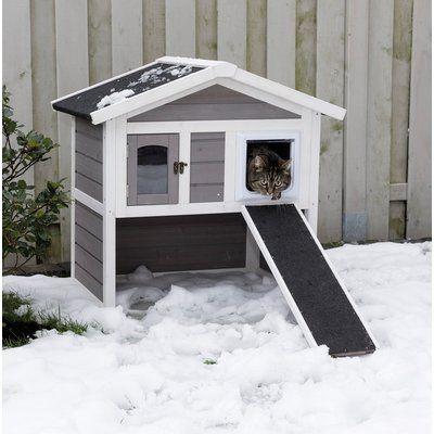 Photo of Archie & Oscar 30″ Hallett Insulated Cat Condo   Wayfair