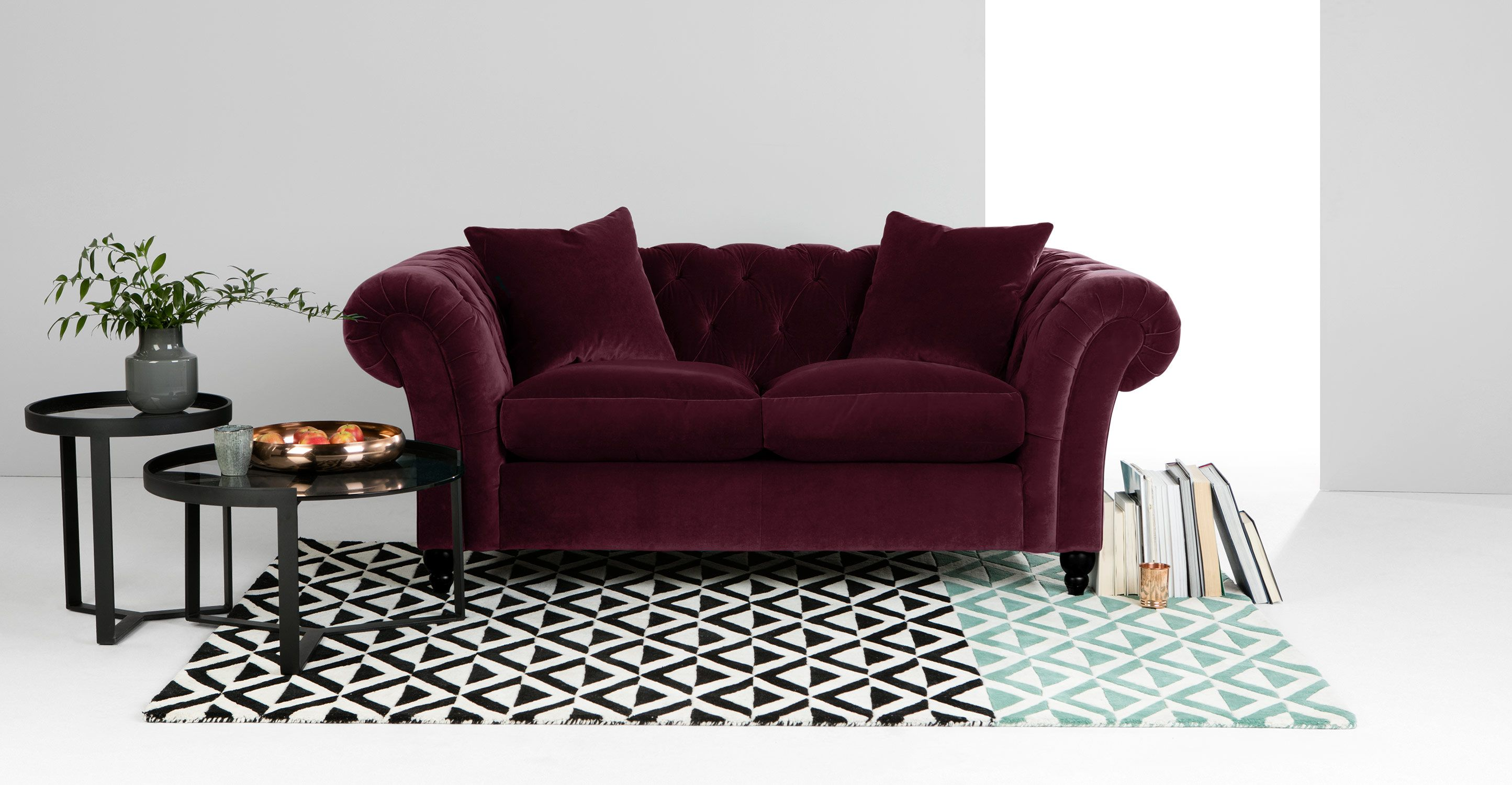 Inspirational Canapé Chesterfield Velour