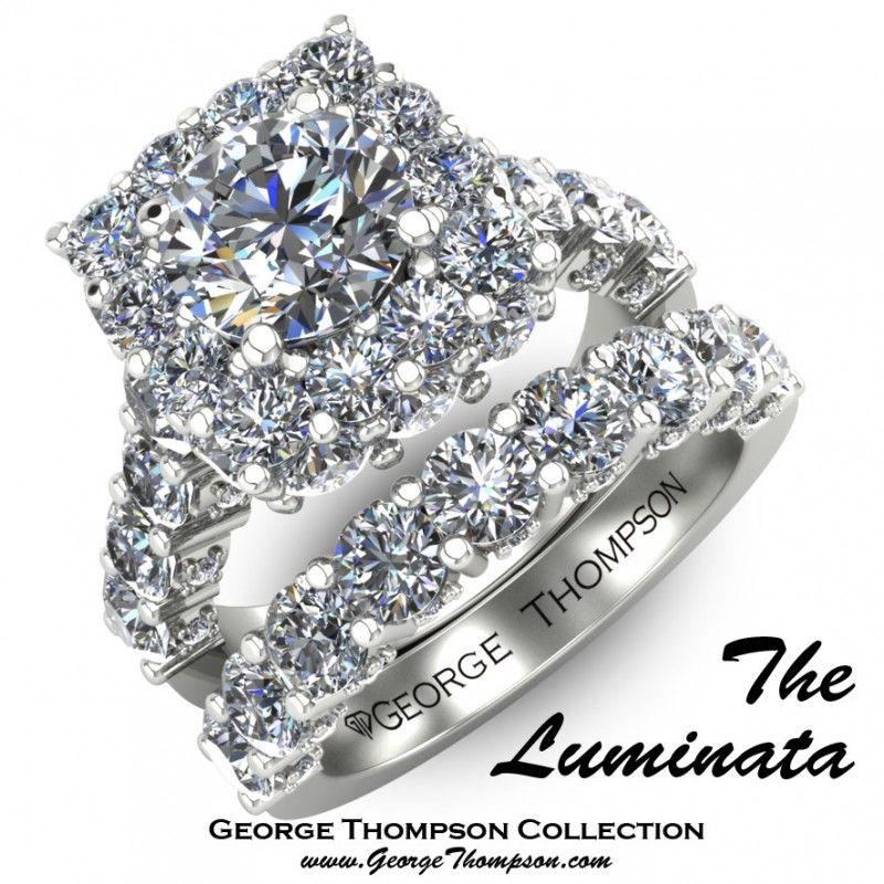 Beautiful Unique Square Diamond Ring With Rounded Edges And