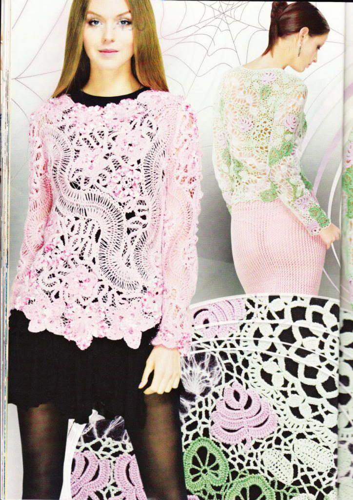 Hairpin Lace Crochet Patterns Book Shawl Cardigan Top Magazine