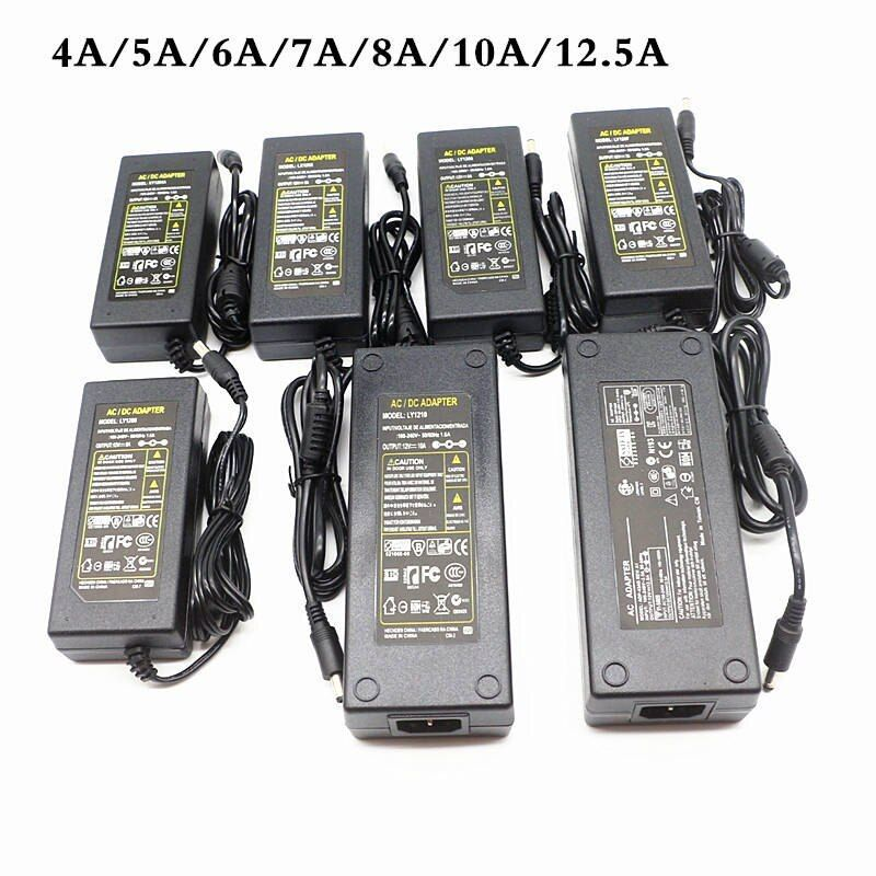 Dc 12v Lighting Transformers Led Driver Power Adapter 1a 2a 3a 4a 5a 6a 7a 8a 10a 12 5a Switch Power Supply For Led Strip Light Led Strip Lighting Led Drivers Led
