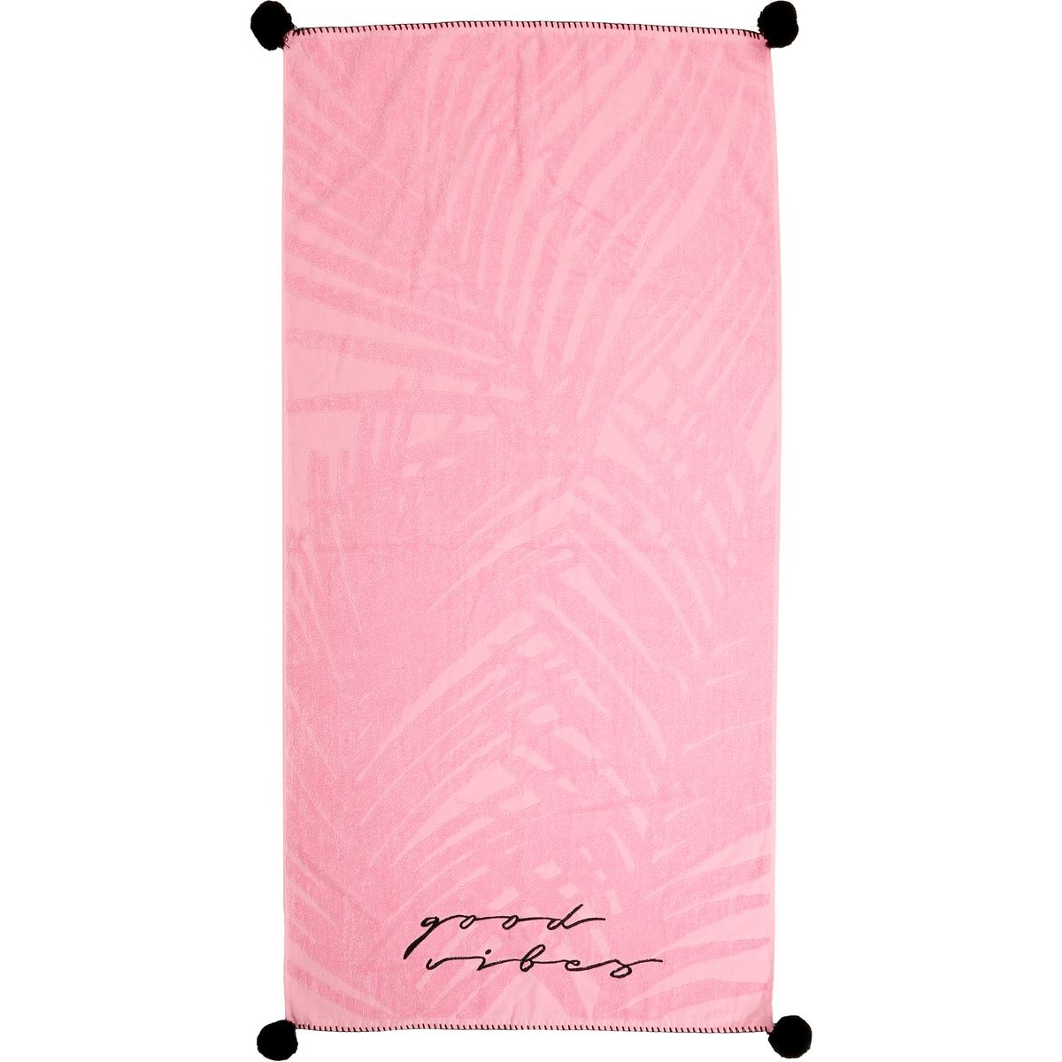 Wave Zone Beach Towel Pom Pom Pink Big W With Images Beach