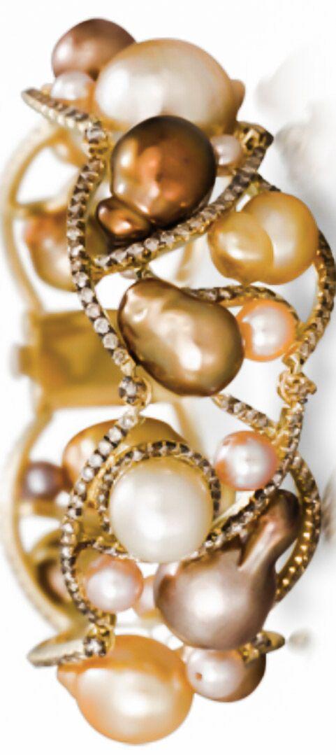 Pearl N Diamond Bracelet Pearls Bracelets Pearl Jewelry