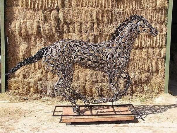 What you can do with all those used horseshoes horses for Where to buy used horseshoes