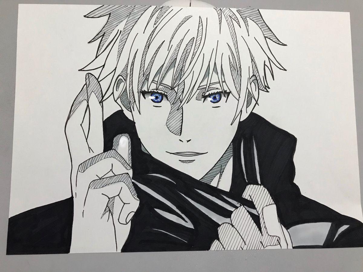 Photo of how to draw SATORU GOJO from JUJUTSU KAISEN easy (speed drawing) – YouTube