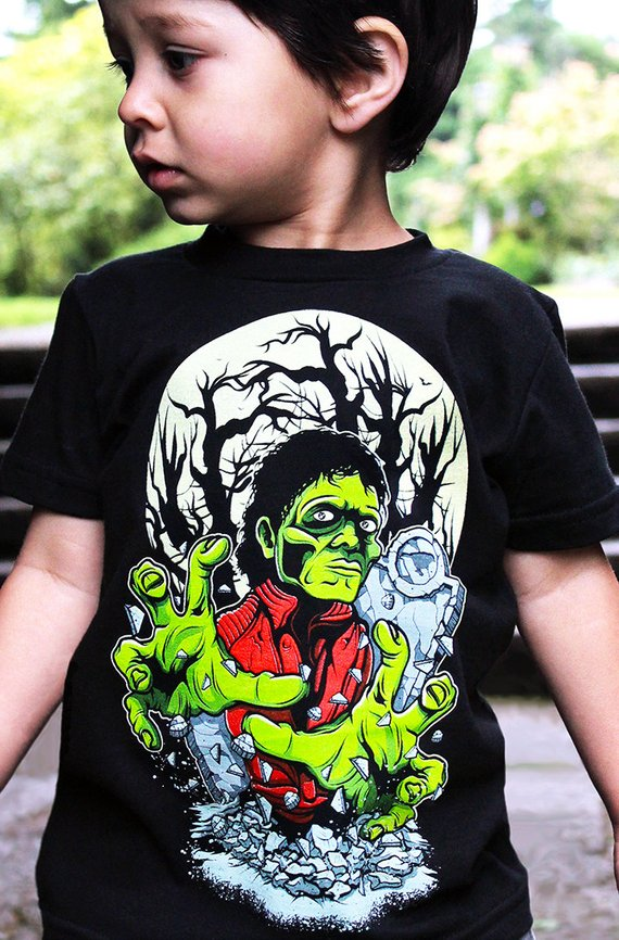 201780e8 Michael Jackson Thriller T Shirt by Hatch For Kids - Glow In The Dark Children's  Clothing 80s Music