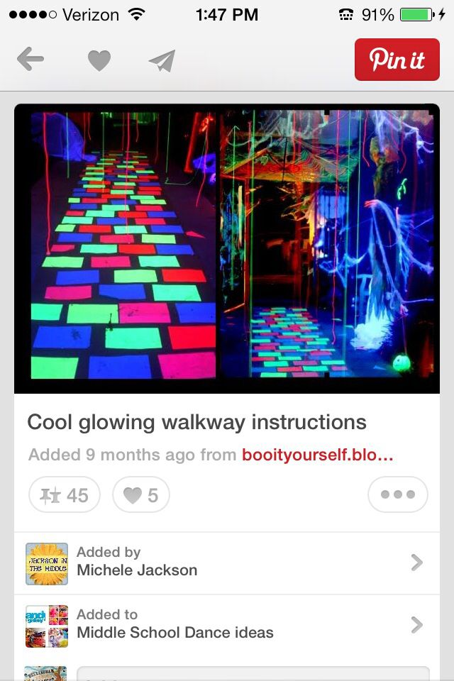 Glow decorations fiesta vip barbi Pinterest Decoration, Sweet - halloween dance ideas