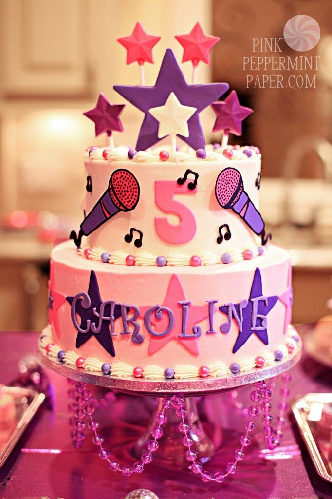 Swell Popstar Cake By For Heavens Cakes With Images Birthday Party Funny Birthday Cards Online Kookostrdamsfinfo