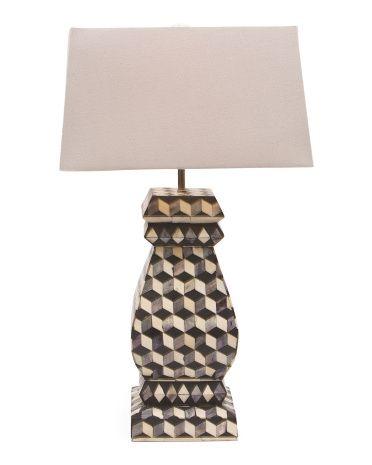 Echo Lamp Lamp Lamp Light Bone Inlay