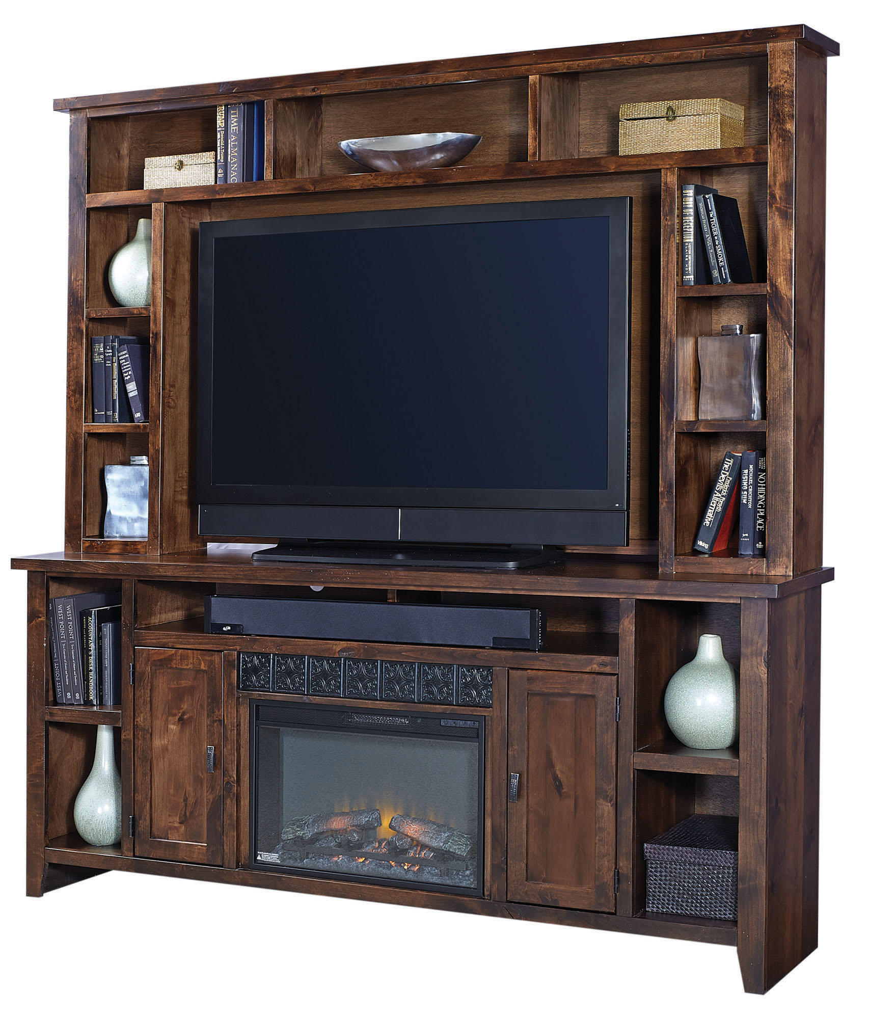 84 Quot Fireplace Console W Hutch Aspen Home Home Gallery