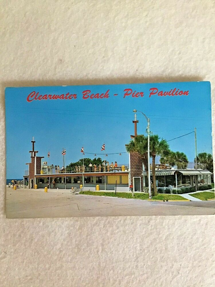 Pier Pavilion Clearwater Beach Florida Postcard Roof Deck Clearwater Beach Florida Clearwater Beach Clear Water