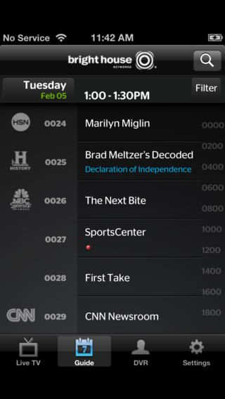 Bright House TV Guide IPhone