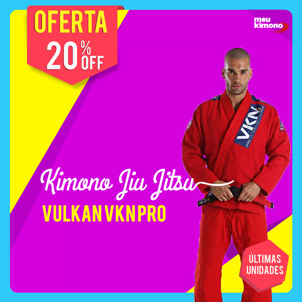 Kimono Jiu Jitsu Vermelho Vulkan VKN Pro De  439 139c9c3180d31