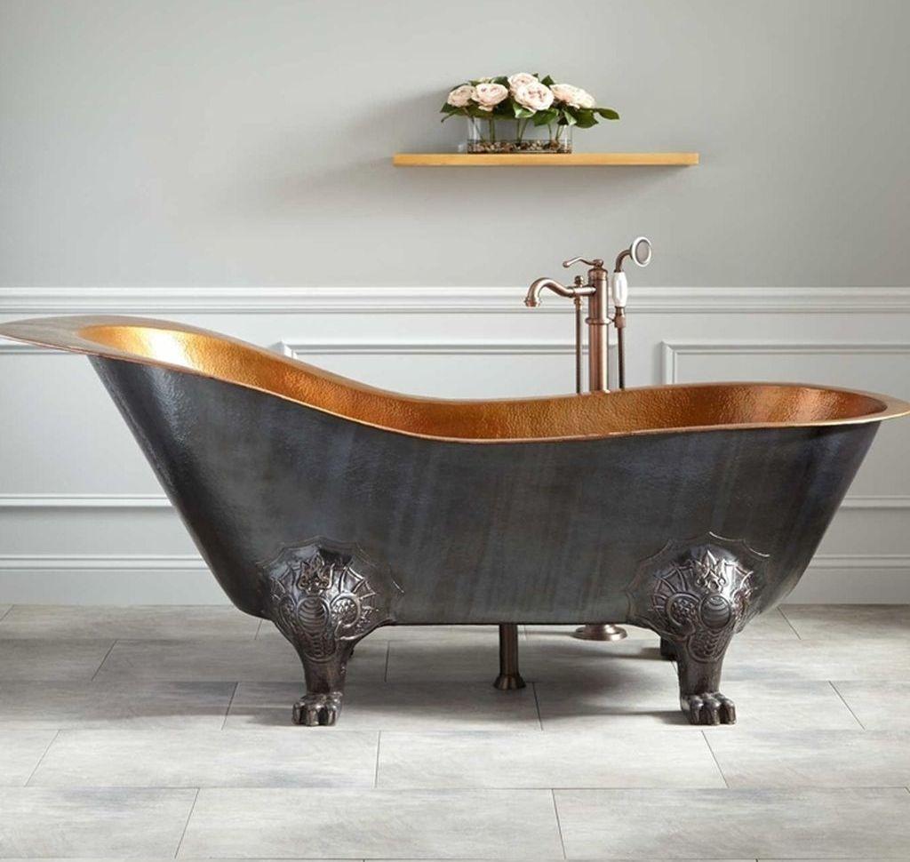 Pin Von Ute Wege Auf Bathroom In 2020 Kupfer Einrichtung Bad Inspiration Badezimmer Design