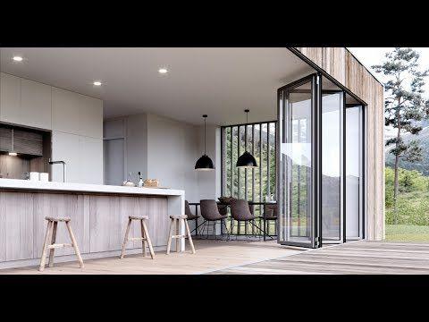 faltwand aus glas f r gro fl chige ffnungen faltt ren und faltanlagen aluminium und holz. Black Bedroom Furniture Sets. Home Design Ideas