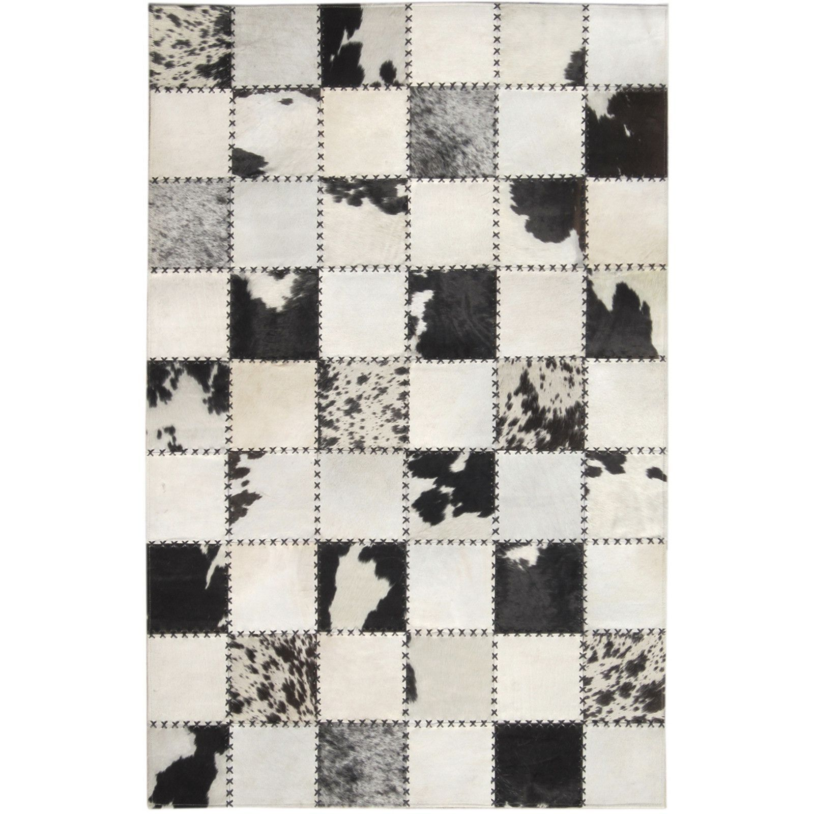 Madisons Black And White Cow Spot Square Pattern Patchwork Cowhide Rug Patchwork Cowhide Rug Patchwork Cowhide Patchwork Leather Rugs