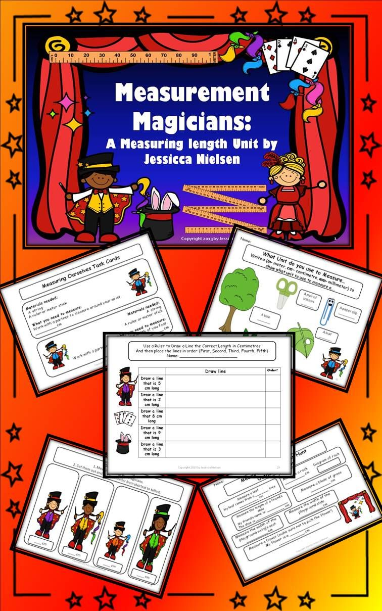 Workbooks k1 worksheets singapore : Measurement Magicians: A Measuring Length Unit contains various ...