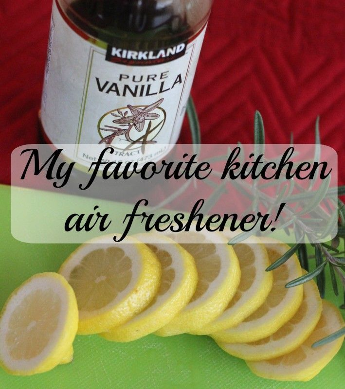 My favorite air freshener. Just simmer a few favorite ingredients from your kitchen! It smells, clean, fresh and oh so yummy.