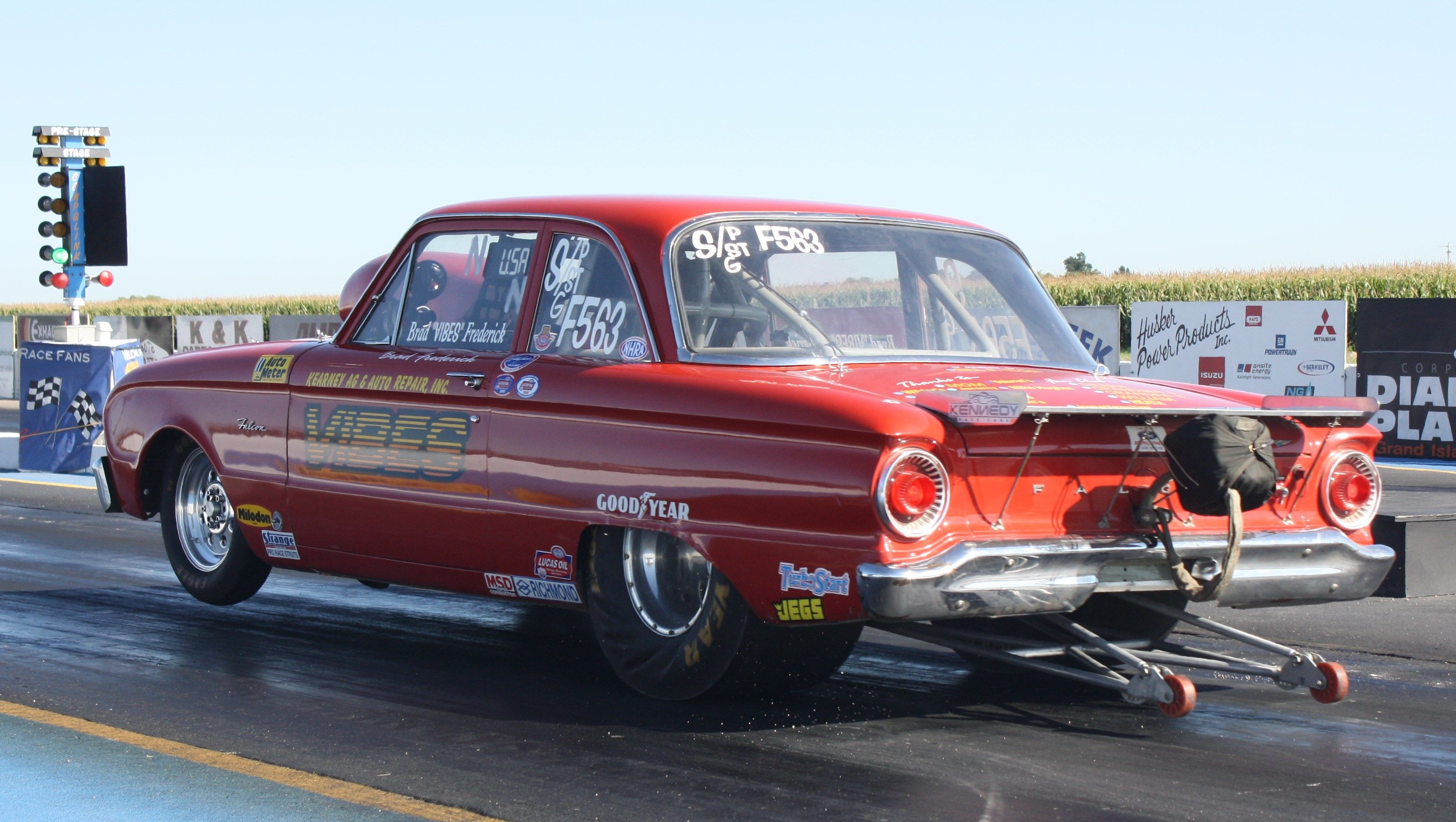 1962 Ford Falcon Launching Wheels Up Maintenance Of Old Vehicles The Material For New Cogs Casters Gears Pads Cou Drag Racing Cars Drag Racing Old Race Cars