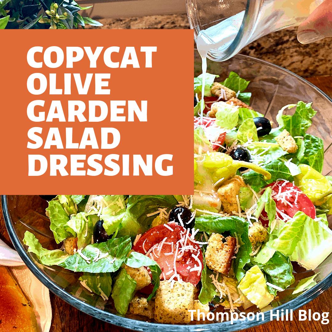 Copycat Olive Garden Salad Dressing Thompson Hill in