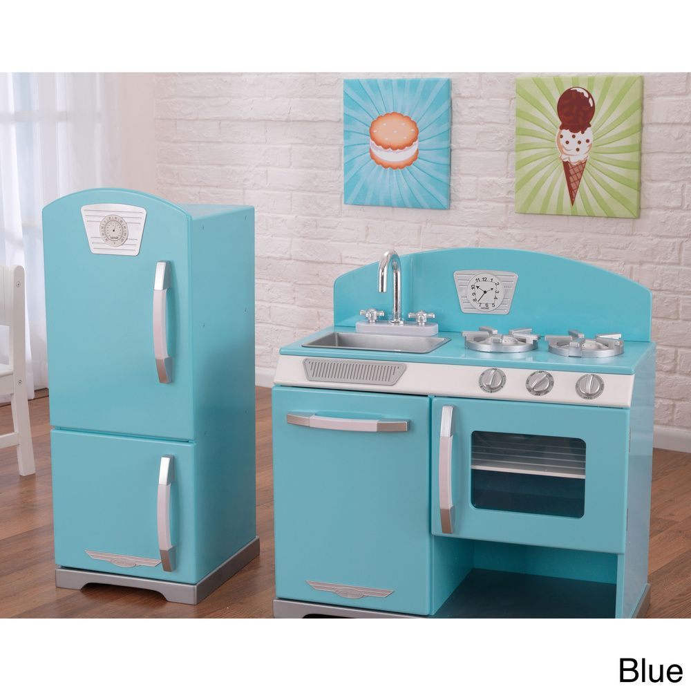 Kitchen Deals Cabinet Pulls Kidkraft Retro And Refrigerator Overstock Com Shopping The Best On Kitchens Play Food