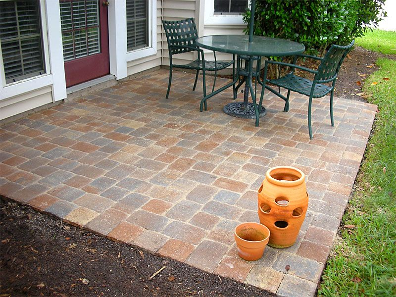 Brick Pave Patio Designs