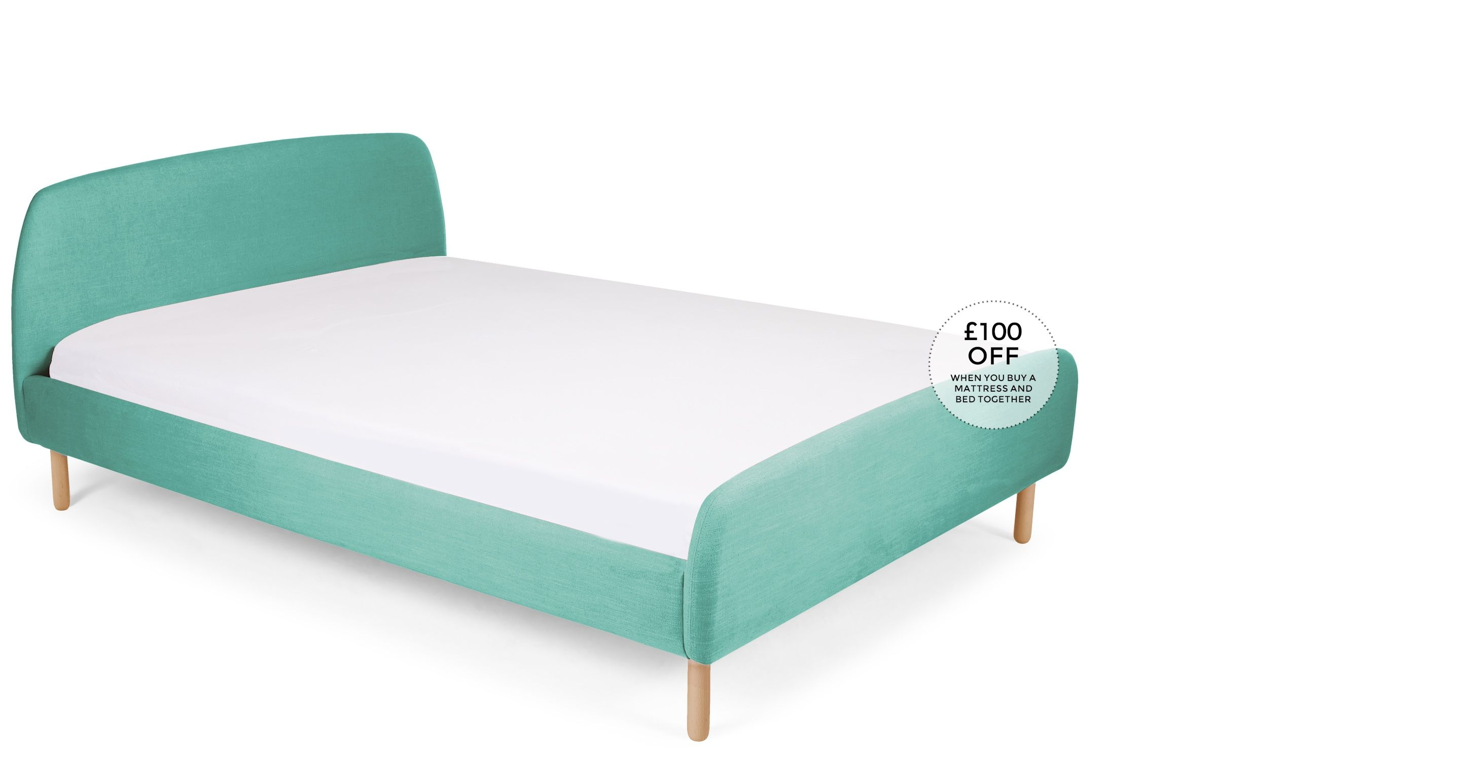 Jonah 160cm X 200cm Euro King Size Bed Med Blue Bed King Size Bed Double Beds