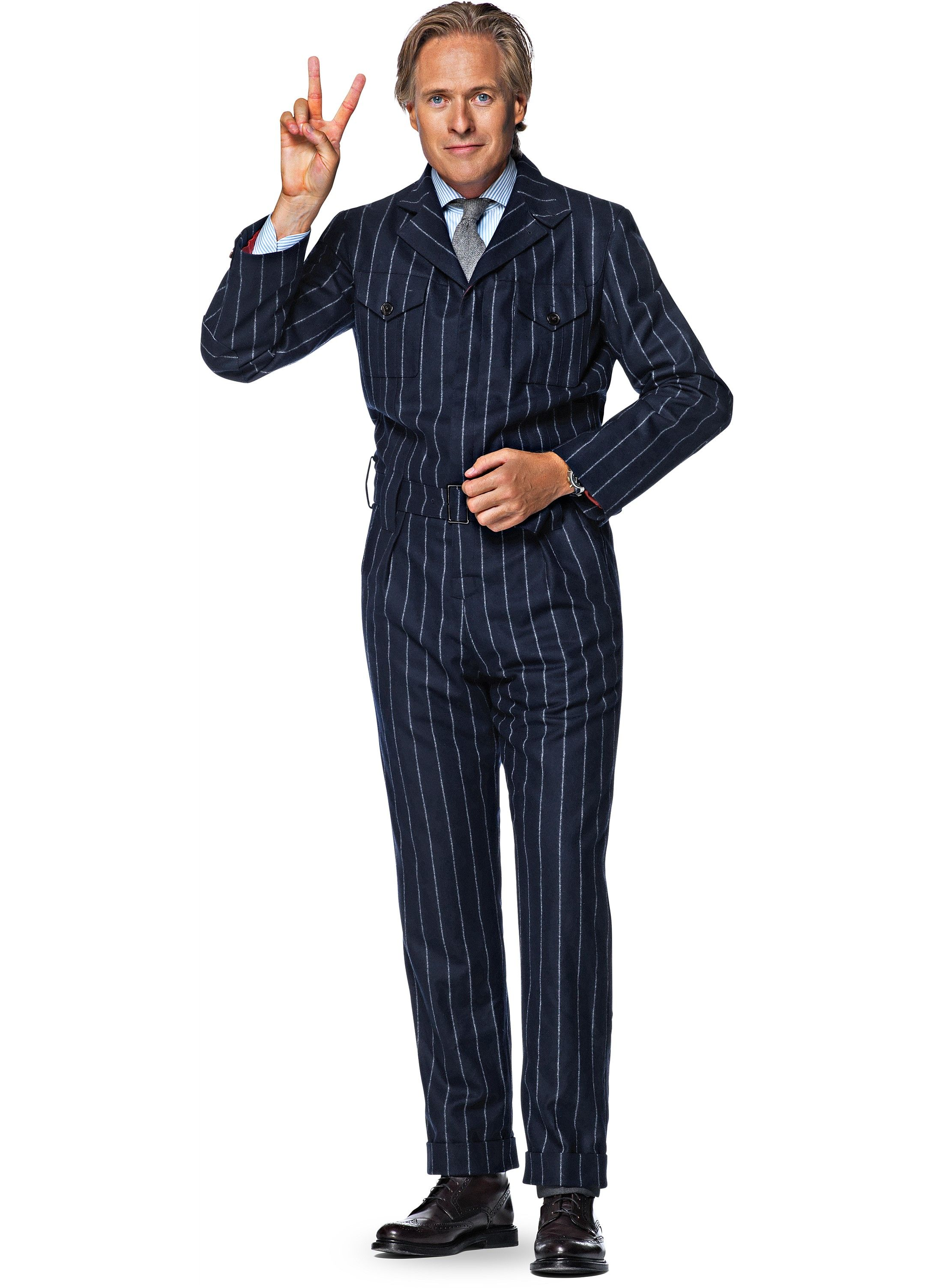 blue stripe boilersuit | Suit Supply | manly in 2019