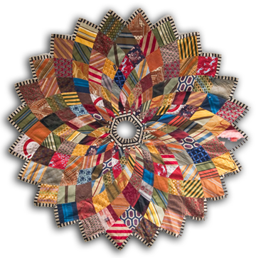 Kaleidoscope Christmas Tree Skirt from upcycled neckties | Quilts ...