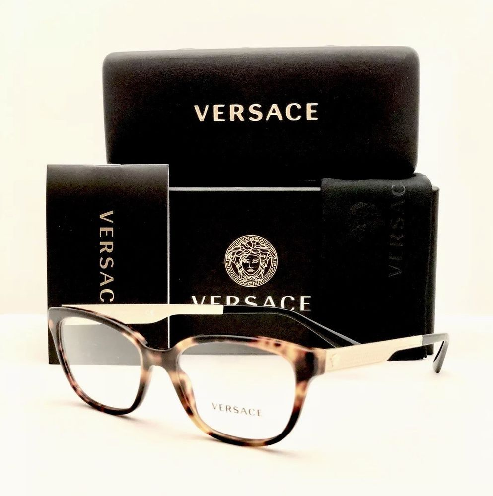 2a0d7f8e0c937 New Versace Eyeglasses 3240 5208 Havana 52â16â140 With Case