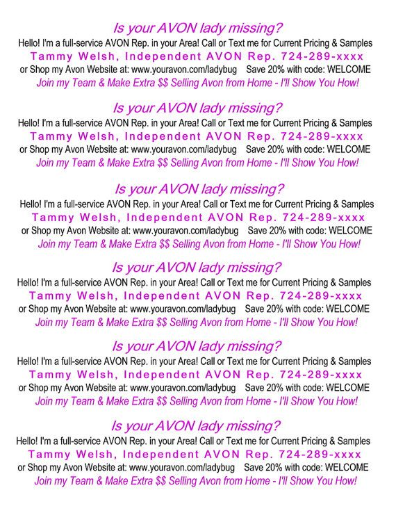 avon book tossing slips perfect for your avon book toss copy and
