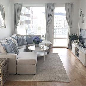 weiß, grau, blau | Einrichtung | Pinterest | Wohnzimmer, Wohnzimmer ...