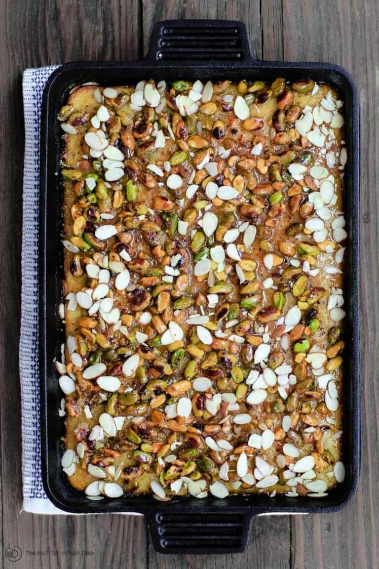 Greek orange honey cake with pistachios recipe