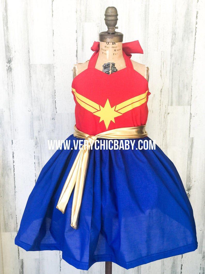 Captain Marvel Costume Etsy Captain Marvel Costume Marvel Costumes Little Mermaid Dresses Captain marvel womens jumpsuit girls cosplay costume printing bodysuit superhero. pinterest