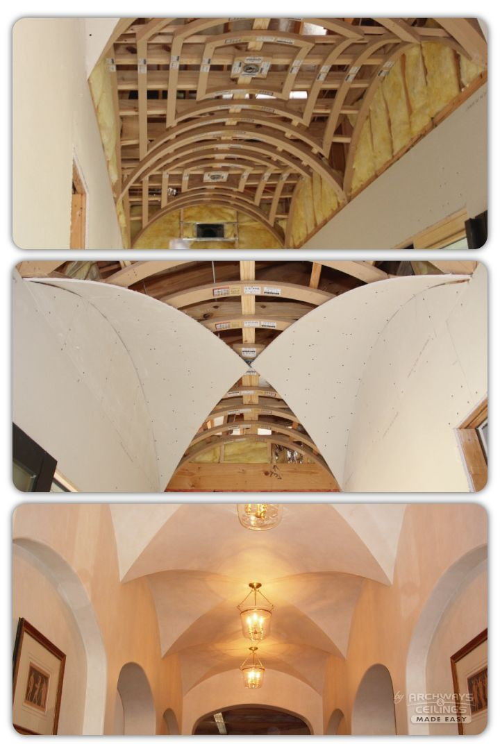 Drywall For Groin Arches Ribbed Vault Wood Building