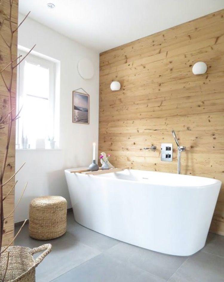 Bad Landhaus Holz rustikal  Salle de bain in 2019