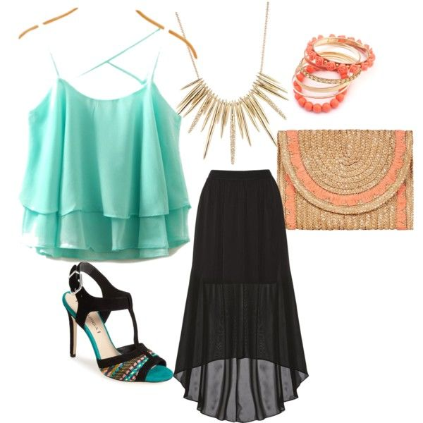 Date know night by feyella-toney on Polyvore featuring polyvore fashion style Alice + Olivia Via Spiga Louche Alexis Bittar