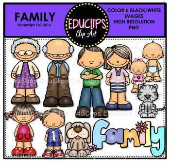Family Clip Art Bundle Educlips Clipart With Images Art