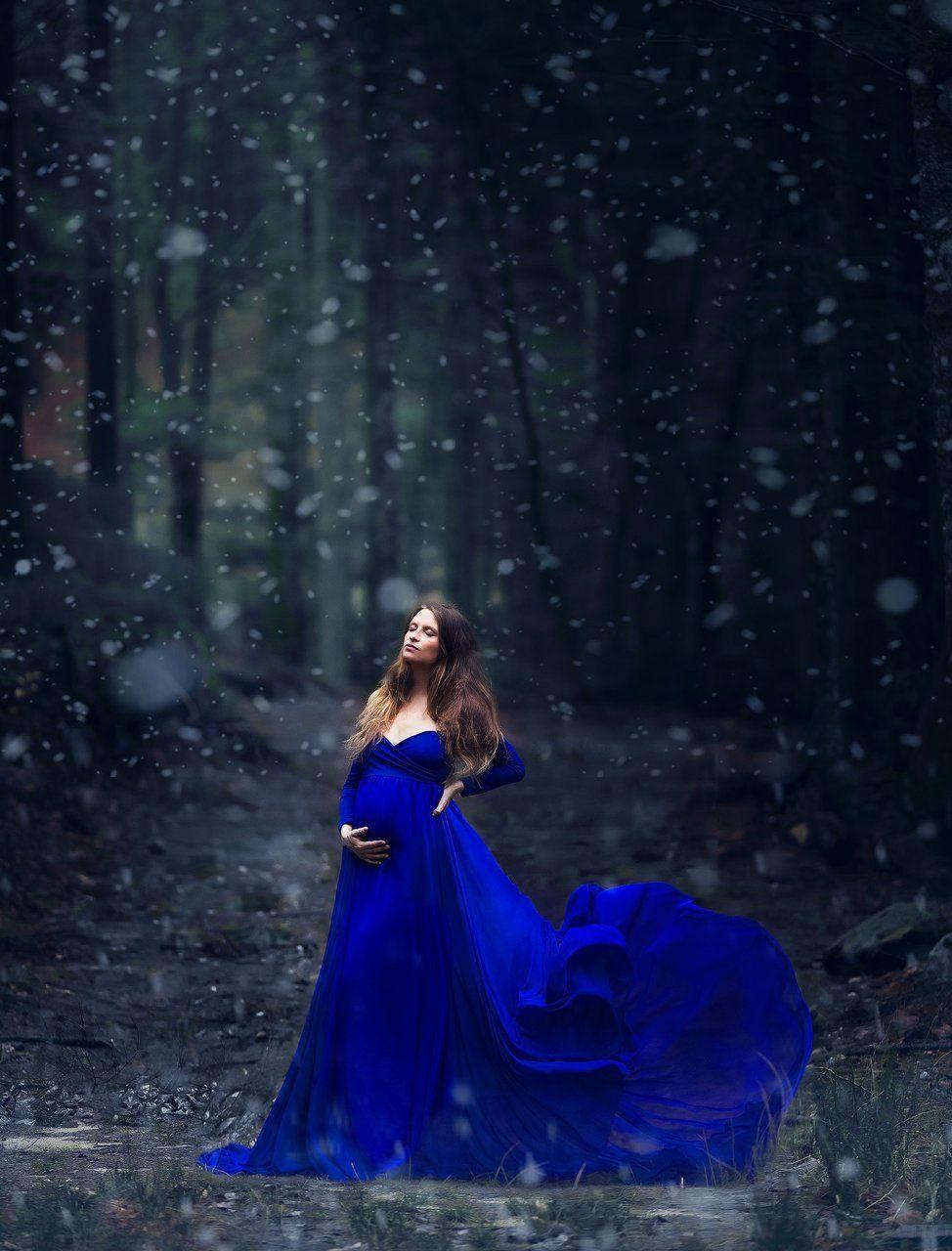 ce72e63c4cf Camille Royal Blue Maternity Dress