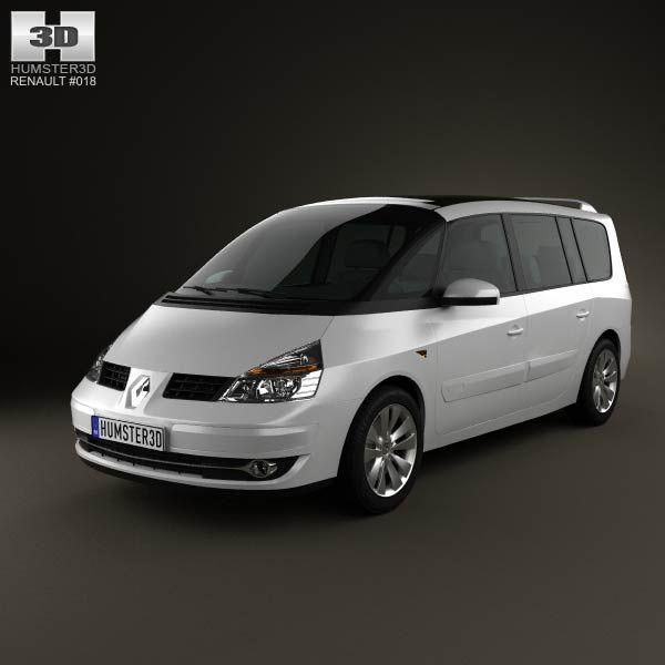 3d Model Of Renault Grand Espace 2011 Renault Voitures Et Motos Renault Espace
